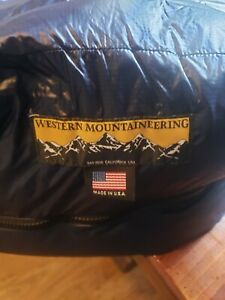 Western Mountaineering Terralite 25° Down Sleeping Bag Long Left Zip Overstuffed