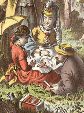 VICTORIAN PICNIC, LIBBY COOKED CORNED BEEF TRADE CARD, MEAT IN CANS   C910