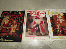 Tole Decorative Painting-Lot of 3-The Country Club-Christmas issues-Holidays