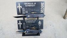 2 tier Microtech Marfione custom display rack ultratech Combat Troodon Cypher