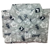 Chicago White Sox  Mens XL Hawaiian Aloha Flora Button Front Shirt NWOT SGA