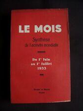 Le mois - Synthèse de l'activité mondiale - T.30