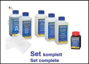 LINDNER ERNI PFLEGEPRODUKTE Set komplett alle 6 x Reiniger + 2 Pflegeschalen