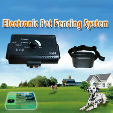 Electronic Pet Dog Fence System Waterproof Shock Collar Containment System