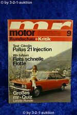 Motor Rundschau 9/70 Citroen Pallas Fiat Dino Audi 100