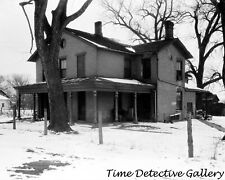 Governor Robert Lucas House, Iowa City, Iowa - 1934 - Historic Photo Print
