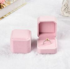 Fashion Velvet Engagement Wedding Earing Ring Pendant Jewelry  Holder Box Gift