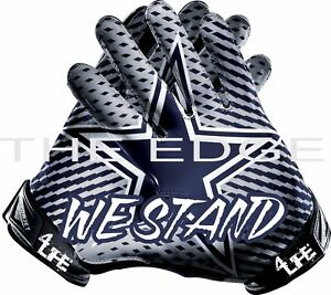 "Dallas Cowboys We Stand 4Life  6""  Auto Window Vinyl Glossy Glove Sticker Decal"