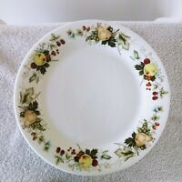 Royal Kent Salad Dinner Plates Fruit Pears Apples Cherries Vines White Set of 9