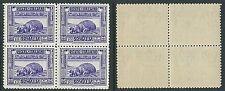 1932 SOMALIA PITTORICA 10 LIRE D. 12 QUARTINA MNH ** - K173