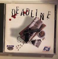 DEADLINE PC CD-ROM Game Vic Tokai Nova (Spring 1995 game for MS-DOS)