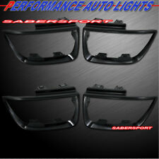 Set of 4pcs Gloss Black Taillights Trim Bezel for 2010-2013 Chevrolet Camaro