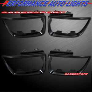 Set of 4pcs Gloss Black Taillights Trim Bezel for 2010-2013 Chevrolet Camaro