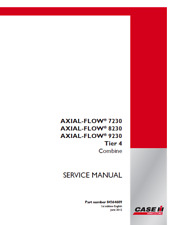 Case IH Combine Axial-Flow 7230, Axial-Flow 8230, Axial-Flow 9230 Tier 4 Service