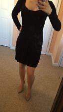 Victoria's Secret Knit Sweater Mini Dress. Black. Small. Detachable Slip