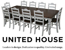 White Timber 10 Seater Dining Table and Chairs French Provincial Furniture Set