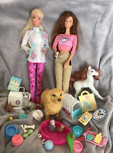Vintage Pet Doctor Barbie, Kitty Fun Teresa, Pregnant Dog , Pet Shop Extras Vgc