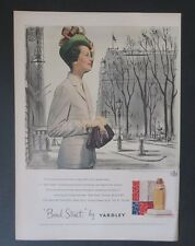 Original Print Ad 1947 Bond Street Yardley WK Blummer Vintage Art