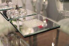 NEUF Lot de 4 miroir Coaster fait avec cristaux Swarovski Table de salle à manger Dîner