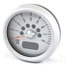 MINI Rev Counter with Silver Trim Tach Tachometer OEM Original R50 R52 R53