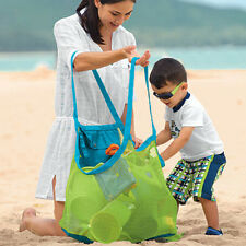 Children Sand Beach Mesh Bag Toys Clothes Towel Baby Collection Nappy Orgainizer