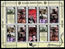 SELLOS TEMA CINE KAZAYISTAN 1999 10v. MH. CENTENARIO CINE