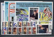 Guatemala 1032/49 Block 20/23 postfrisch / 200 J. USA - Weltraum .........1/1243