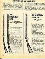 1976 Print Ad of Hopkins & Allen Minuteman & Brush Muzzle Loading Rifle