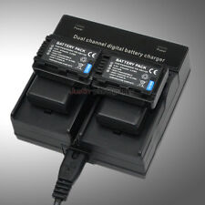 Dual Charger +4x Battery for VW-VBY100 Panasonic HC-V110K V110P HC-V201 HC-V130