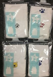 Boys Mothercare Pack of 2 Vests Underwear Blue White Age 2 - 10 Years CLEARANCE