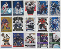 Goalie Insert Parallel RC Rookie Numbered Cards- You Pick- See Scans NHL Hockey