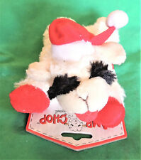 "7"" Mini Christmas Lamb Chop White Soft Plush Squeak Dog Toy Lambchop Multipet"