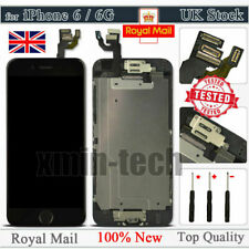 "For iPhone 6 Black 4.7"" Screen Replacement Digitizer LCD Home Button Camera UK"