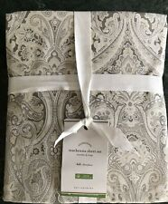 Pottery Barn Mackenna Organic Percale Sheet Set, Size Full, New  W/$119.00 tag