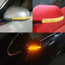 2x 12V Universal Car LED Rear View Mirror Blinker Light Turn Signal Bumper Strip