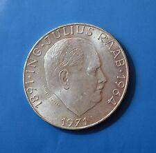 Austria, 1971 - 50 schilling - 80th Anniv. of Julius Raab, silver coin [#7154]