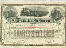 1889 WAGNER PALACE CAR COMPANY STOCK CERTIFICATE