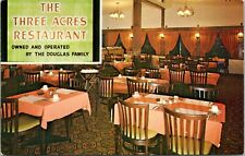 The Three Acres Restaurant Ancaster Ontario ON Douglas Family Postcard E15