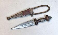 Vintage 1960' African Boot Fighting Hunting Dagger Knife Snake Skin W/Sheath