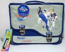 NICKY BEYBLADE GREEK VTG 15'' SCHOOL BAG BACK PACK STATIONERY RARE WITH FLAWS