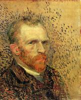 Stunning Oil painting male portrait Van Gogh self-portrait - Dutch painter