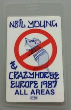 1987 Neil Young Laminated Backstage Pass All Areas