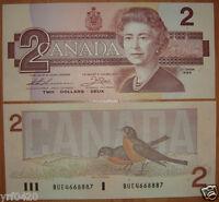 Canada Banknote 2 Dollars 1986 UNC