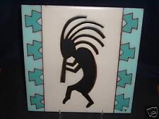 "Signed Limited Edition KOKOPELLI Art Tile Trivet 8"" - #6/500"