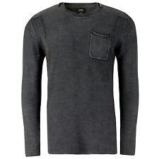 Khujo Herren Pullover Pegram Anthrazit Fashionista Trend Look -60