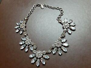 Signed Cara NY Designer Vintage Art Deco Rhinestone Necklace Choker Jewelry