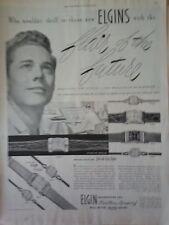 1950 Elgin Watch Flair of The Future Drafting  Blue Print Original Ad