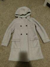 Jacadi Coat Girls 8 Years suede jacket 8Y warm hooded peacoat