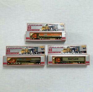 Set of 3 KINGS OF THE ROAD trucks 1:87 SEA LAND UNION & EXXON PLAYART vintage