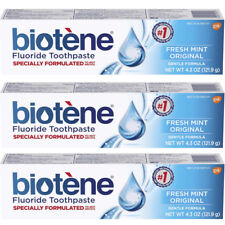 3 Pack - Biotene Fluoride Toothpaste, Fresh Mint 4.3oz Each